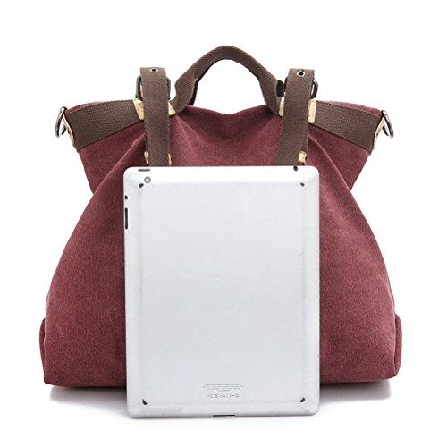 Tote Büro Einkaufen Umily Handtasche für Mädchen Schultertasche Casual Freizeit Outdoor Damen Umhängetasche Canvas ideal Braun xvgq7pv0w