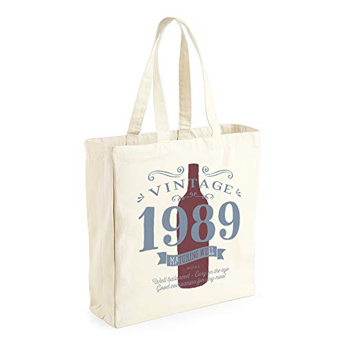30th Birthday, 1989 Keepsake, Funny Gift, Gifts For Women, Novelty Gift, Ladies Gifts, Female Birthday Gift, Vintage Red Wine, Ladies, Shopping Bag, Present, Tote Bag, Gift Idea