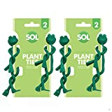 4 x Frog Garden Ties | Quirky Green Plant Twist Ties Ideal for Securing Canes and Plants | Includes Gardening Ebook