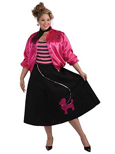[Poodle Skirt Set Costume - Plus Size - Dress Size 16-22] (Poodle Skirt Set)
