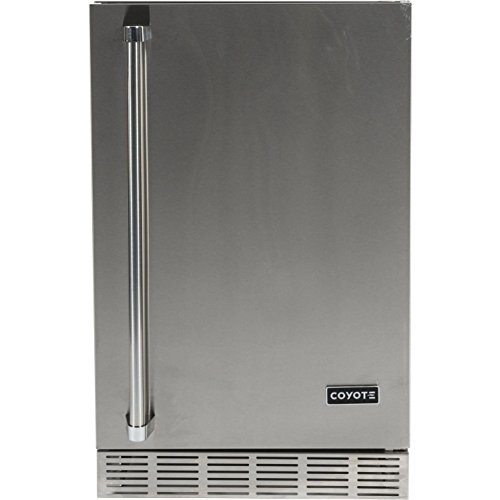 Coyote 21-inch Right Hinge Outdoor Stainless Steel Compact Refrigerator