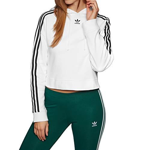 Sweatshirt Cropped Femme Blanc Hoodie Adidas REPqHwxZxO