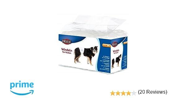 Trixie 23643 Pañales para Perro Macho, L-XL, 60-80 cm, 12 Unidades, L: Amazon.es: Productos para mascotas