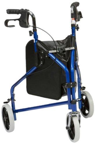 Drive Medical TW011B - Andador de acero ligero y 3 ruedas, color ...