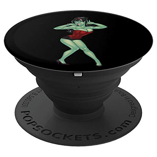 Pin Up Girl Halloween (Zombie Pin-Up Girl Halloween Costume Men Women Gift  PopSockets Grip and Stand for Phones and)