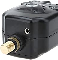 Lixada Fishing Bite Alarm 2 LEDs Carp Fishing Fish Indicator Water Resistant Adjustable Tone Volume Sound Alert for Fishing Rod