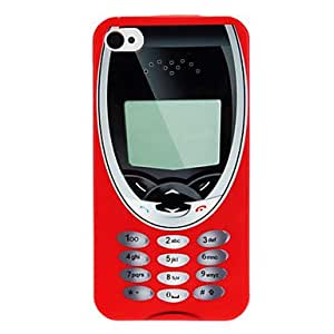 YXF sold out Retro Cellphone Pattern IMD Technology Hard Case for iPhone 4/4S