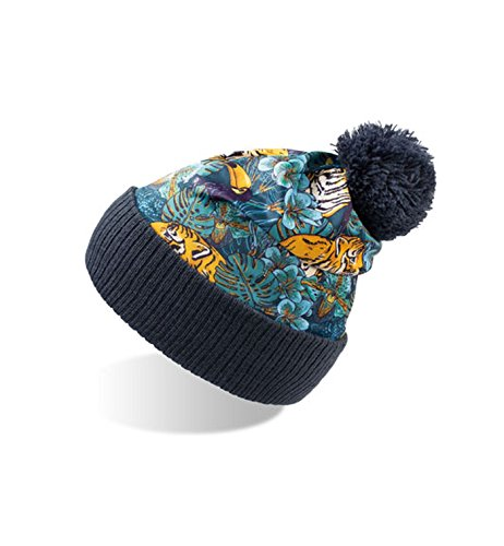 Tiger borla Mujer Flores y con Paisley Camuflaje de y punto Gorro diseño Hombre qxg711Y