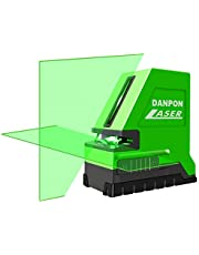 Danpon Self-Leveling Laser Level Green 2 Line,Cross Line,High Brightness,Horizontal Line Projection Angle Exceeds 180°,Suitable for Indoor and Outdoor Construction. All Laser Modules are Focused and Assembled with Aspheric Glass Lens.VH-181