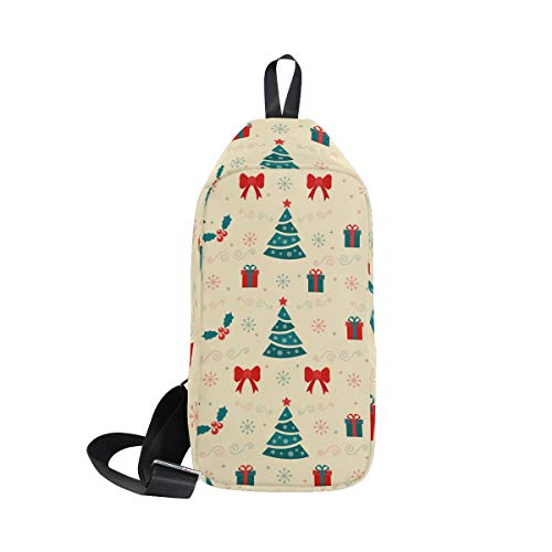 Bags Crossbody Bag Print Backpack Christmas For Chest Women Shoulder Seamless Men amp; Bennigiry Sling One 8TIq81