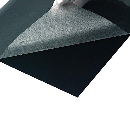 Black Flock Heat Transfer Vinyl 2 Sheets/Pack 12