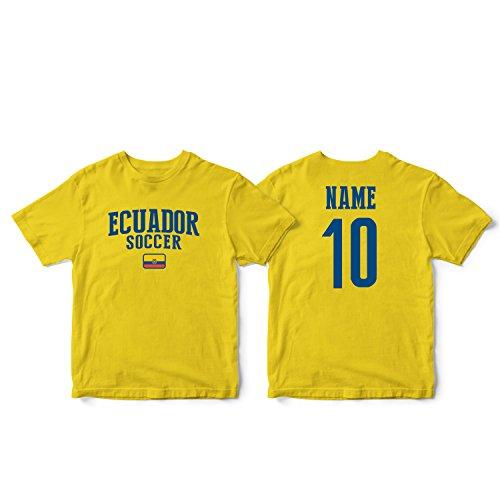 - nobrand Ecuador Men's Flag National Pride Man Soccer Team T-Shirt Soccer Jersey (Men Yellow M)