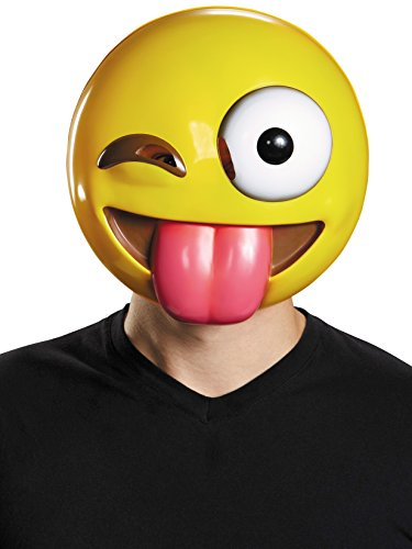 Disguise Emoji Mask Costume Accessory,Yellow,One Size ()