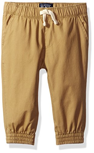 The Children's Place Baby-Boys Li'l Guy's Basic Jogger Pants, Flax, 9-12 months (Joggers For Boys 11)