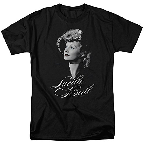 [LUCILLE BALL/PRETTY GAZE-S/S ADULT 18/1-BLACK-LG] (Funny Pop Culture Costume Ideas)