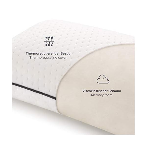 41pY35t2tzL Blumtal Visco-Schaum Reisekissen Memory Foam - Reise Nackenkissen mit Tasche, komprimierbar, ideales Camping Kopfkissen…