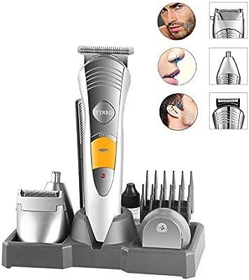 Recortador de barba y pelo, 7 en 1 para hombre eléctrico de la maquinilla de afeitar