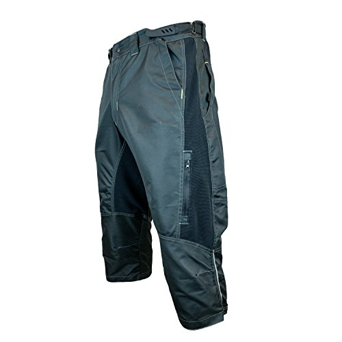 Urban Cycling Apparel The Gravel II 1/2 Pants - Long Mountain Bike MTB Baggy Shorts with Magnet Pockets, Thigh Vents, and Dry-Fast Wicking (Medium, Black - NO Undershorts)