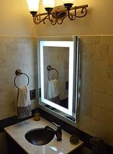 Amazon Com Led Front Lighted Bathroom Vanity Mirror 24