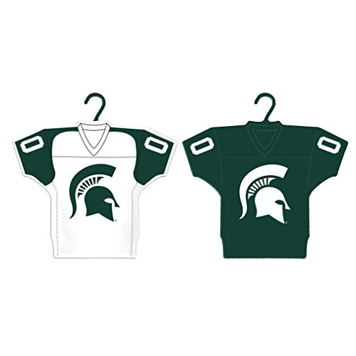 Boelter Brands NCAA Michigan State Spartans Home & Away Jersey Ornament, 2-Pack