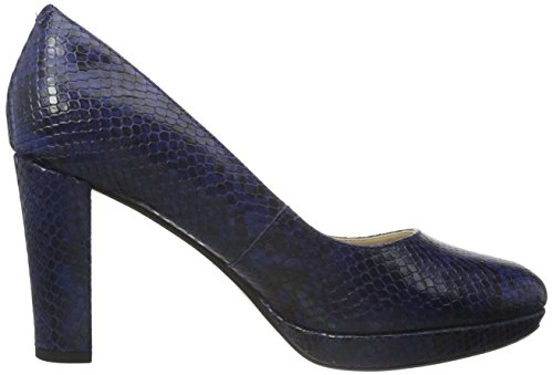 con Sienna Tacco Blu Clarks Kendra Scarpe Snake Donna Dark Leather Blue wSAP5qt5