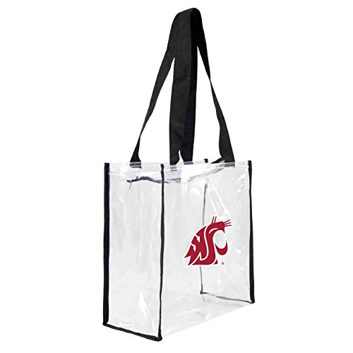 Littlearth NCAA Washington State Cougar quadratisch Stadion Tote, 11,5 x 5,5 x 29,2, transparent