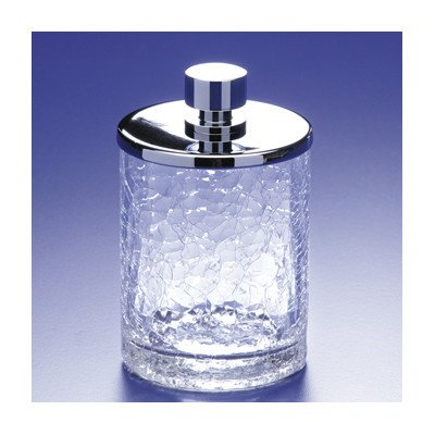 - Accessories Crackled Glass Cotton Ball Jar Finish: Chrome