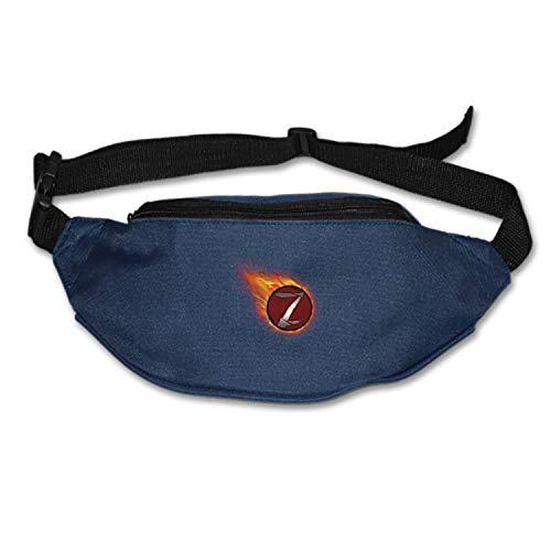 Christopher Macadam Running Belt Z Hadoken Collection Waist Pack-Water Resistant Runners Belt Fanny Pack for Hiking Fitness- Adjustable Running Pouch (Macadam Collection)