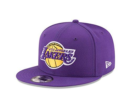 NBA Los Angeles Lakers Adult Men NBA 9Fifty Team Color Basic Snapback Cap,OSFA,Purple (Purple New Era)