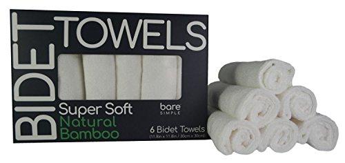 Amazon Com Baresimple Bidet Towels 6 Extra Soft 100 Natural
