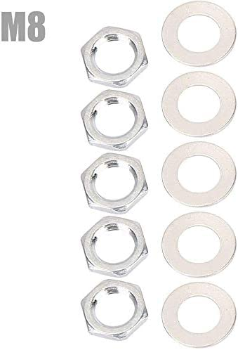 Set of 10 Guitar Jack Socket Nuts /& Washers for Electric Guitar Basss Parts Black as described
