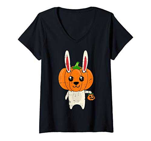Scary Womens Costumes Ideas - Womens Rabbit Scary Pumpkin Head Costume