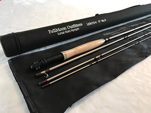 FullMoon Outfitters Father's Day Sale!!! FMO Lunar Series 11' 3WT Euro Czech Nymph Rod Mod. Fast Action 40T Carbon Fiber Trout + Free Tippet Tenders and Tippet Rings!!!