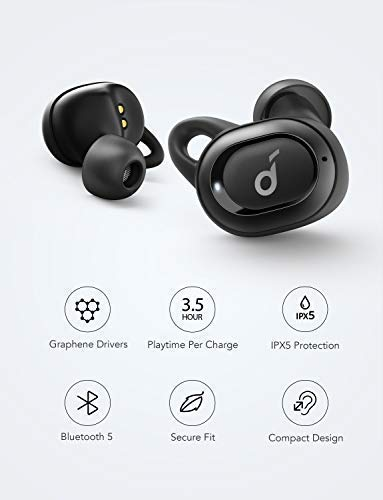 Soundcore Truly-Wireless Earbuds, Liberty Neo by Anker, Wireless Headphones with Graphene-Enhanced Drivers, 12-Hour Playtime, IPX5 Water-Resistant, Stereo Calls, AAC, Microphone, and Bluetooth 5.0 by Soundcore (Image #6)