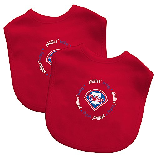 Baby Fanatic Team Color Bibs, Philadelphia Phillies, 2-Count (Phillies Baby Bib)