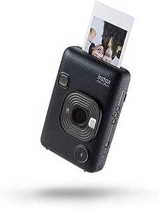FUJIFILM instax Mini LiPlay HM1 Hybrid Digital Camera with Film, 10 Sheets - Dark Grey , 2725605712681