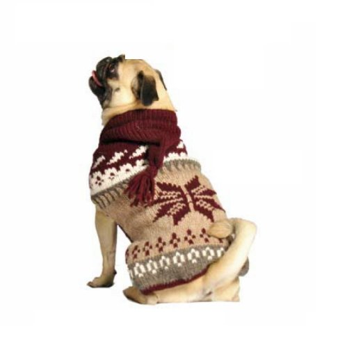 Chilly Dog Rustic Snow Hoodie Dog Sweater, X-Large, My Pet Supplies