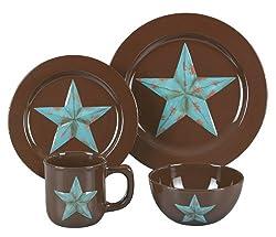 HiEnd Accents Western Star Dinnerware Set
