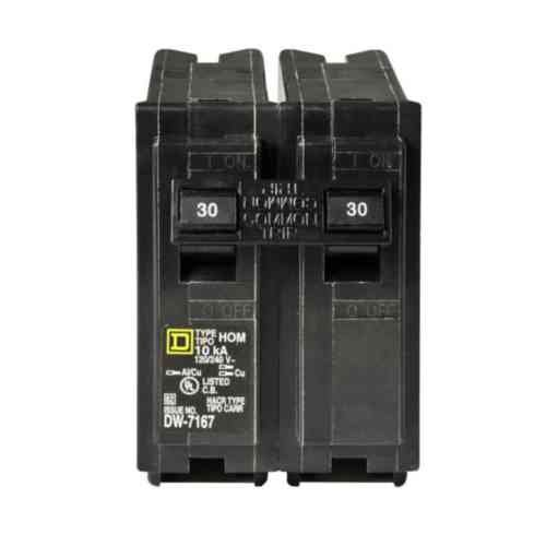240v Breaker - Your One Source HOM230CP 30-Amp Weatherproof Plug-On Circuit Breaker