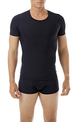 Underworks Mens Extreme Gynecomastia Chest Binder Girdle T-shirt Large Black
