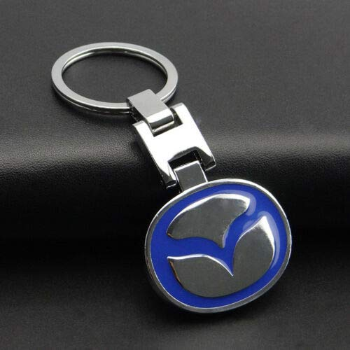 PSL Metal Car Keyring compatible with Mazda cars automotive keychain MX5 NC