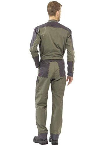 trabajo y gris caqui de cremallera color A de Charcoal Lafont doble con Traje 5an0z88