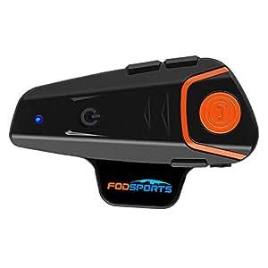 Casco Sistemas de comunicación Fodsports BT-S2 Intercomunicador de Motocicleta Auriculares Bluetooth, Distancia de intercomunicación de hasta 1000m, Conexión de 2-3 Personas