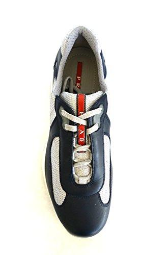 Scarpe in Nevada Bike Pelle Uomo Sneakers 40 n Tessuto EU PS0906 e 5 Blu Prada twqUC5t