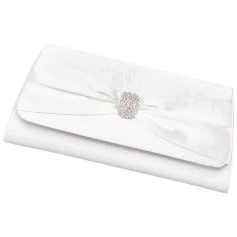 Dyeable Satin Clutch With...