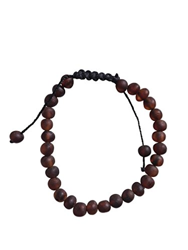 Baltic Amber Adjustable Adult Bracelet by UMAI – 7 inches – for Men and Women - Anti-inflammatory - Pain Relief for Carpel Tunnel, Arthritis, Headache, Migraine (Cognac Raw)