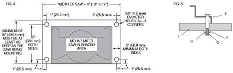 Miter Saw Workstation Tool Mounting BracketsDewalt Rail Pair Sliding DWX New