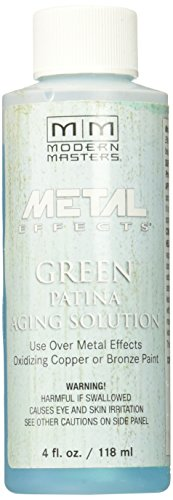 (Modern Masters PA901-04 Aging Solution Green Patina, 4-Ounce)