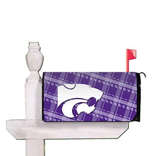 (VICTORYSTORE.COM Outdoor Mailbox Cover - Kansas State University, Plaid, Magnetic Mailbox Cover)
