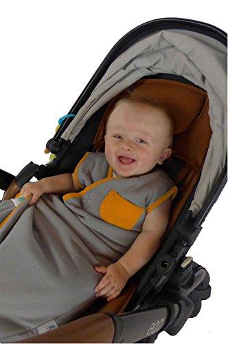 110 cm Schlummersack Ganzjahres-Varinate Fu/ßsack f/ür Babys Wilde Tiere grau//orange 2.5 Tog Gr/ö/ße 18-36 Monate